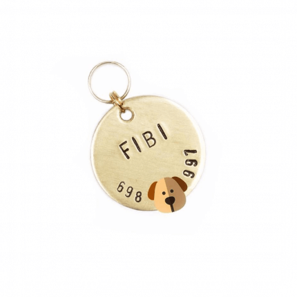 złota adresatka dla psa