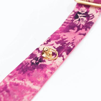 Różowa, fioletowa obroża dla psa