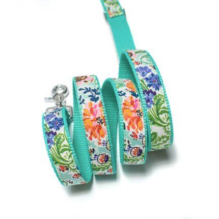Smycz handmade w kolorze miętowym