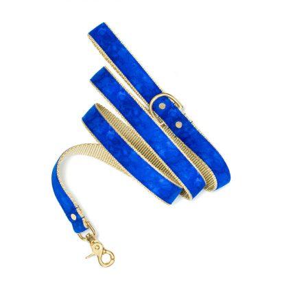 Ciemnoniebieska smycz dla psa