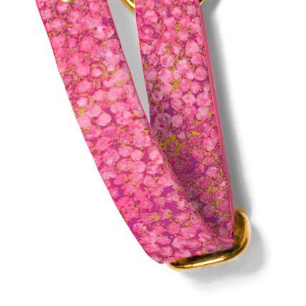 Różowo-złote szelki dla psa