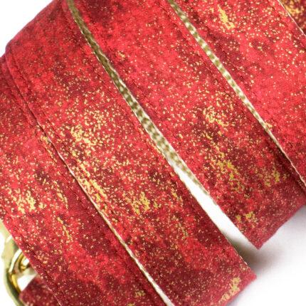czerwono-złota smycz dla psa