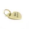 złota adresówka w kształcie serca